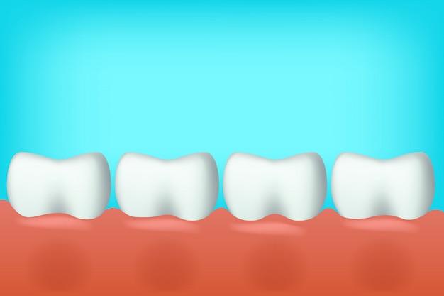 Zähne in einer linie