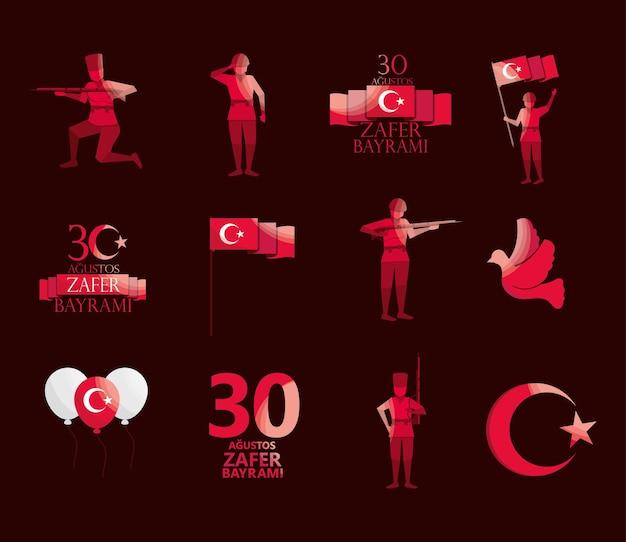 Zafer bayrami türkisches set