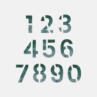 Zahl 0-9 numerischer systemvektor Kostenlosen Vektoren