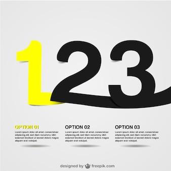 Zahl vektor-infografik