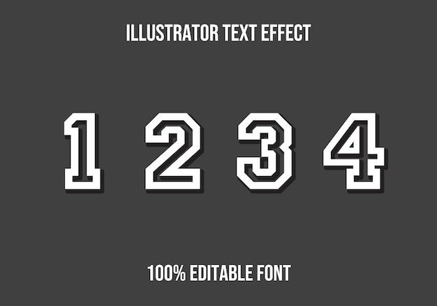 Zahlen bearbeitbarer text effekt