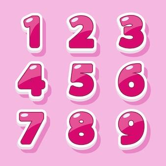 Zahlen für grafikdesign