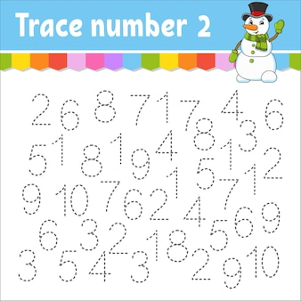 Zahlen für kinder illustration lernen