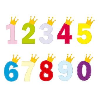 Zahlen für kleine prinzessin und prinz
