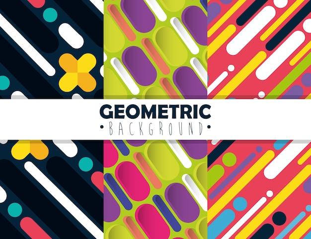 Zahlen geometrien und farben hintergründe festlegen