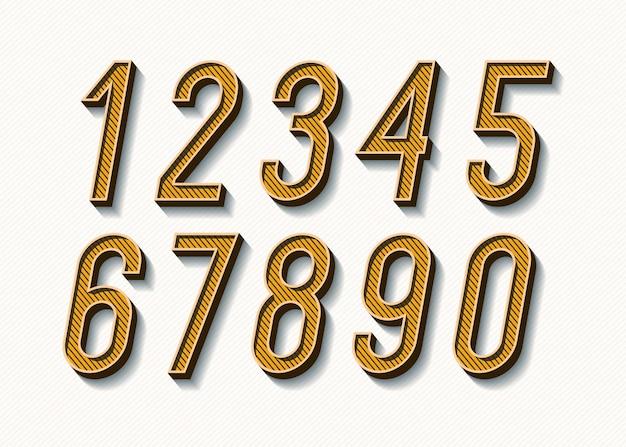 Zahlen setzen kühnen trendigen typografie-farbstil