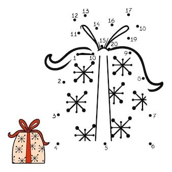 Zahlenspiel, bildung punkt zu punkt spiel für kinder, weihnachtsgeschenk
