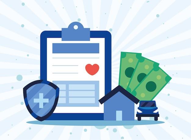 Zahlung der krankenversicherung haus und auto