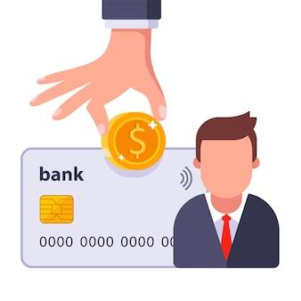 Zahlung des gehalts an den mitarbeiter mit bankkarte