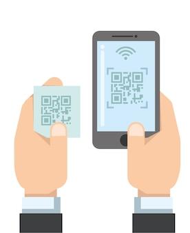 Zahlung mit barcode-scan-methode über smartphone