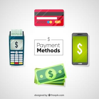 Zahlungsarten mit modernem stil