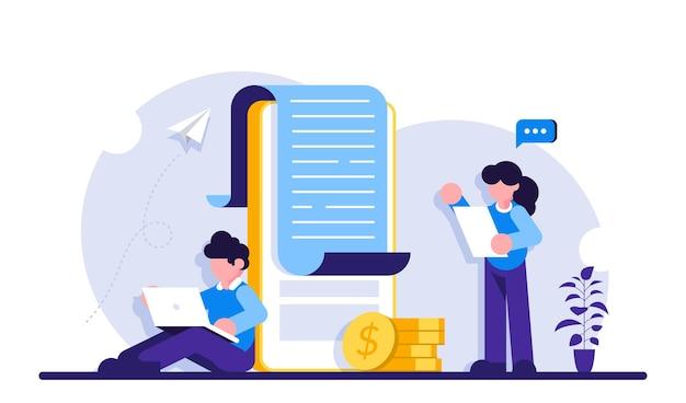 Zahlungsbenachrichtigung, vertragsabschluss. banking, elektronische mobile zahlung. leute, die nahe großem handy stehen.