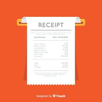 Zahlungsquittungsschablone mit flachem design