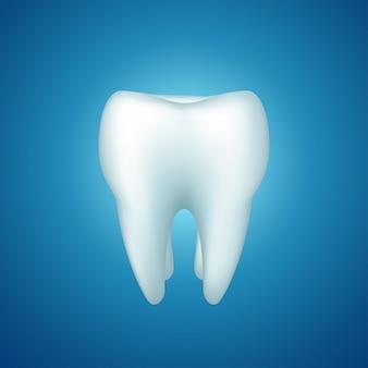 Zahn auf blau