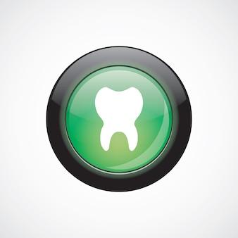 Zahn glas zeichen symbol grün glänzende schaltfläche. ui website-schaltfläche