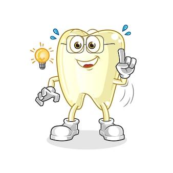 Zahn hat eine idee illustration charakter