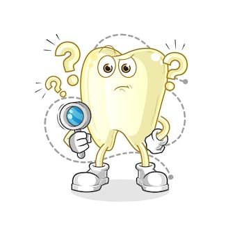 Zahn suchendes illustrationszeichen