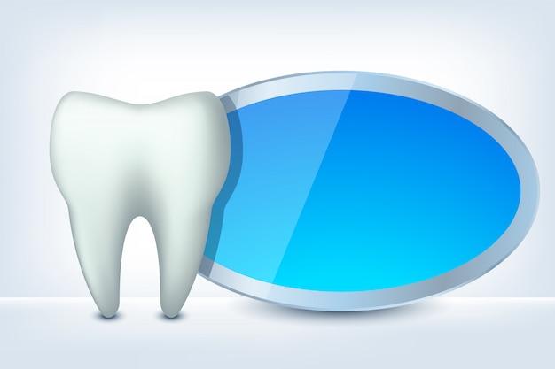 Zahn und etikett