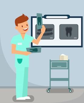Zahnärztlicher röntgenraum