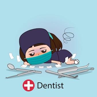 Zahnarzt zeichentrickfigur