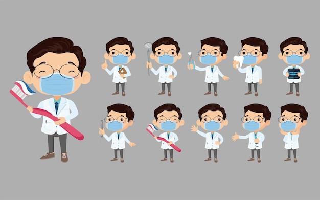 Zahnarztcharakter und zahnpflegekonzept