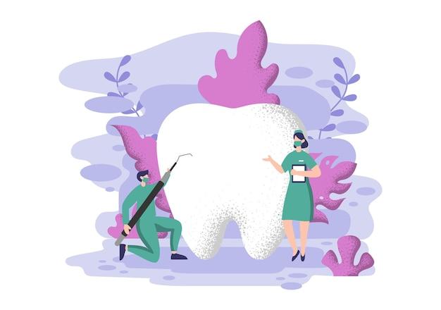 Zahnarztpraxis flache farbe.