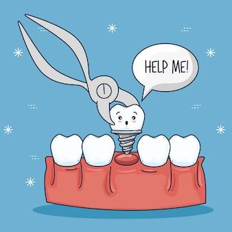 Zahnbehandlung und prothesenzahn