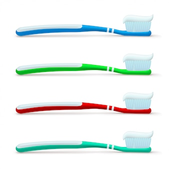 Zahnbürsten gesetzt