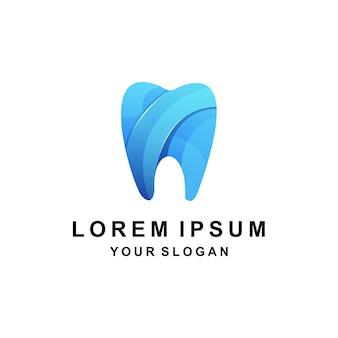 Zahnfarbenes buntes logo