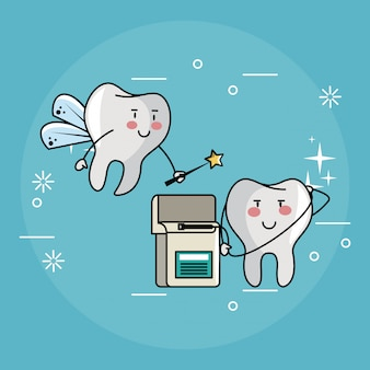 Zahnfee und zahnpflege