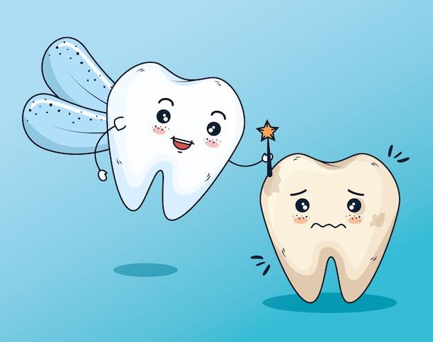 Zahnfee zur zahnpflegebehandlung