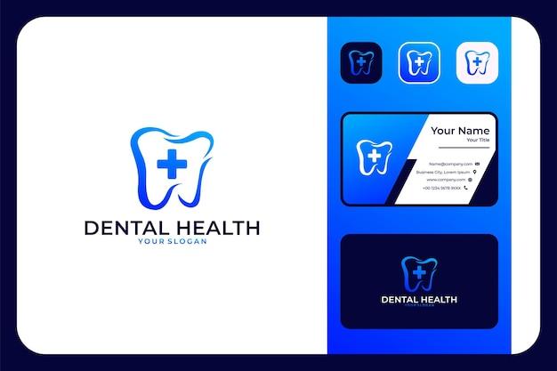 Zahngesundheit modernes logo-design und visitenkarte