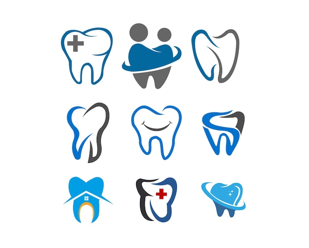 Zahngesundheits-medizin-illustrationslogosatz