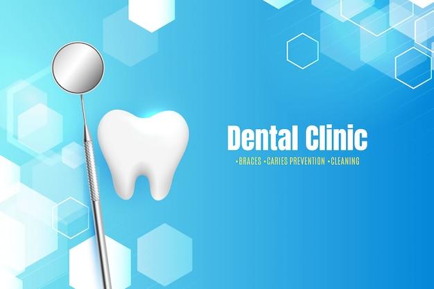 Zahnklinik mit abstraktem hintergrund