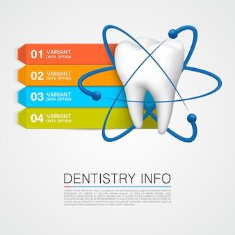 Zahnmedizin info medizinische kunst kreativ. vektorillustration