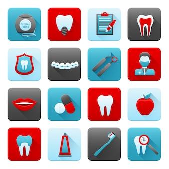 Zahnmedizinische icons set