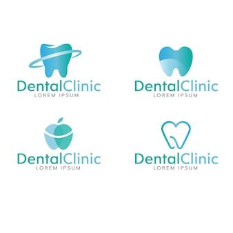 Zahnmedizinische logo-sammlung
