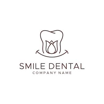 Zahnmedizinische logo-vorlage