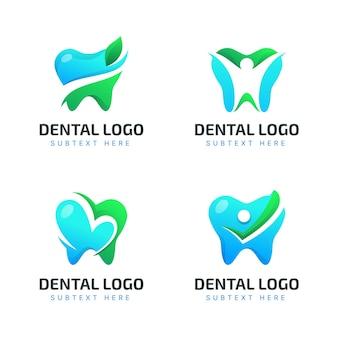 Zahnmedizinische logos mit farbverlauf