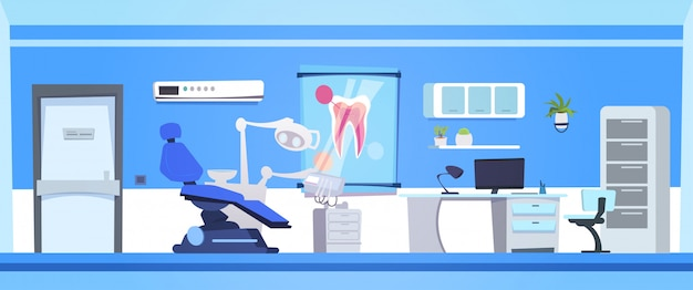 Zahnmedizinisches büro-leerer zahnarzt-interior hospital or clinic room