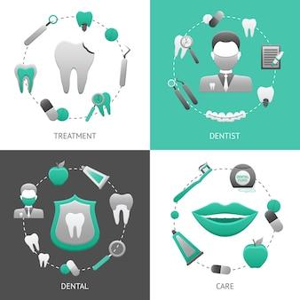 Zahnmedizinisches design-konzept