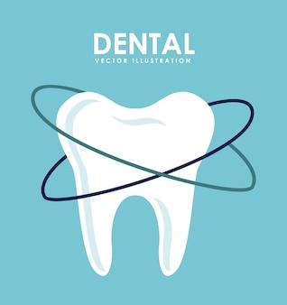 Zahnmedizinisches design über blauer hintergrundvektorillustration