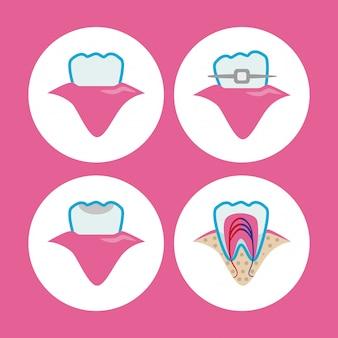 Zahnmedizinisches ikonendesign