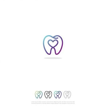 Zahnmedizinisches liebes-logo