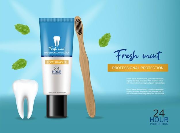 Zahnpasta isoliert realistisch