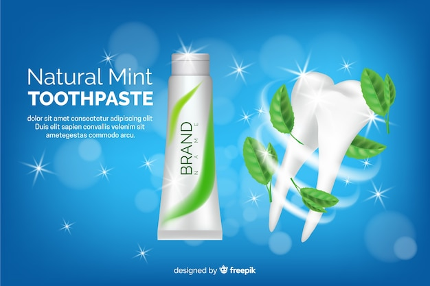 Zahnpastawerbung