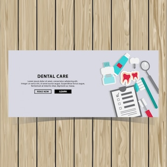 Zahnpflege-banner-design