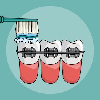 Zahnpflege cartoons