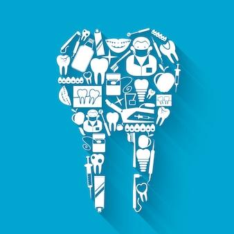 Zahnpflege hintergrund-design