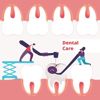 Zahnpflege hintergrund